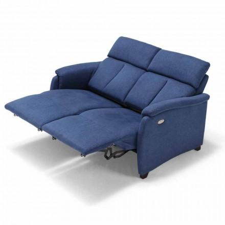 Pohovka 2posti elektrické relaxace, 2 elektricky ovládaná sedadla Gelso, moderní design
