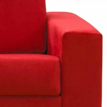 Moderní designová třímístná pohovka z ekokože / látky vyrobené v Itálii Mora