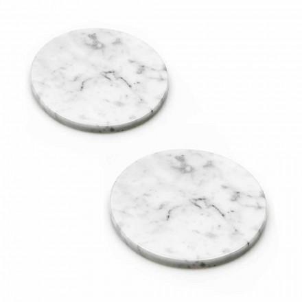 Dva tácky v bílém a šedém mramoru s korkem Made in Italy - Jessa