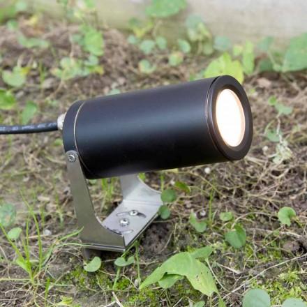 Zahradní reflektor z černého eloxovaného hliníku s LED diodou Made in Italy - Forla