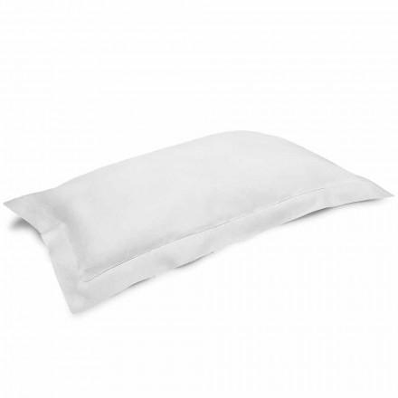 Povlak na polštář v krémově bílém čistém prádle vyrobený v Itálii - mák