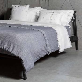 Bílý povlečený povlak na polštář s obdélníkovými krystaly dekorů - Cenerella