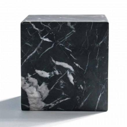 Moderní krychlová gramáž v saténovém černém marquínovém mramoru Vyrobeno v Itálii - Qubino
