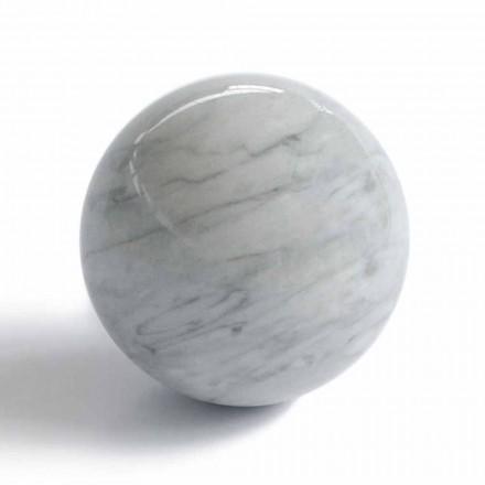 Moderní míčová váha v Bardiglio Grey Marble Vyrobeno v Itálii - koule
