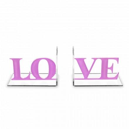 Designové záložky v barvě levandule nebo červeného plexiskla - láska