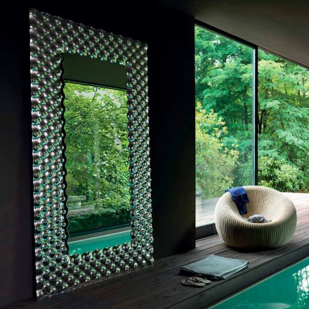 Fiam Italy Pop stěna se zrcadlem / Moderní pozemní 216x116cm Made in Italy