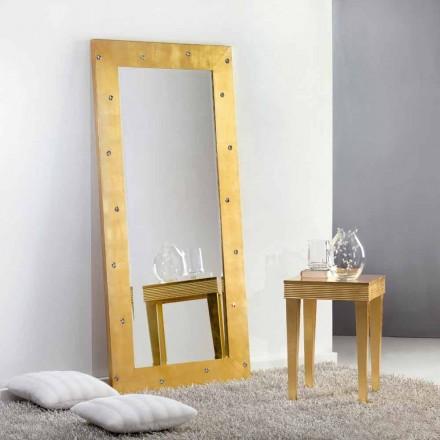 Velké zrcadlo podlaha / stěna s krystaly Swarovski Vivien