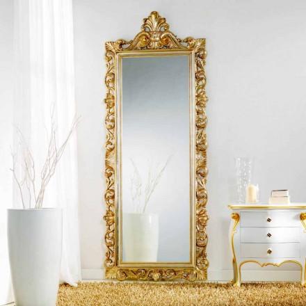 Velké zrcadlo podlaha / stěna klasicky konstruované Tiara, 86x220 cm