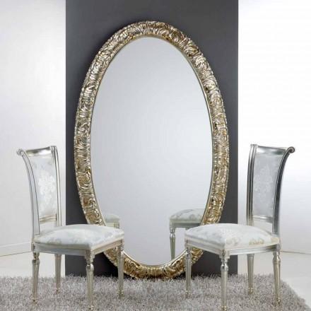Velké oválné zrcadlo od podlahy / zdi Life, 114x190 cm