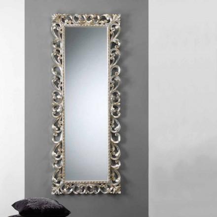 Velká vertikální stěna zrcadlo s rámem zdobený Paříž