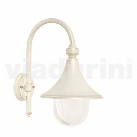 Zahradní stěna bílá hliníková lampa, vyrobená v Itálii, Anusca