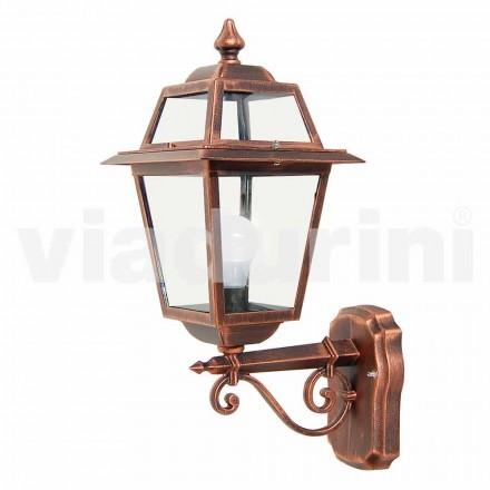 Zahradní nástěnná lampa z hliníku, vyrobená v Itálii, Kristel