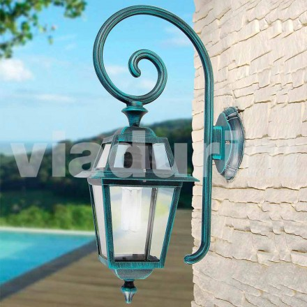 Zahradní nástěnná lampa mnade s hliníkem, vyrobená v Itálii, Kristel