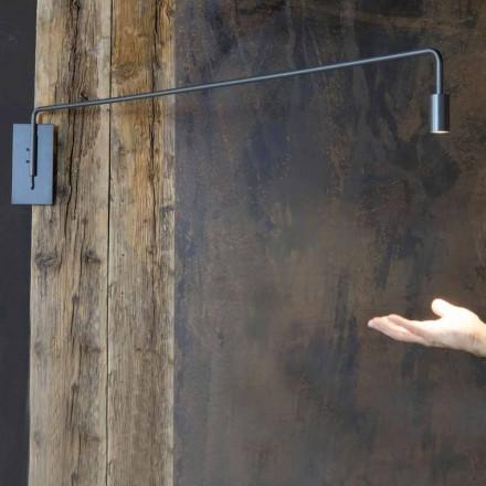 Venkovní nástěnná lampa ze železa s nastavitelnou LED vyrobenou v Itálii - Forla