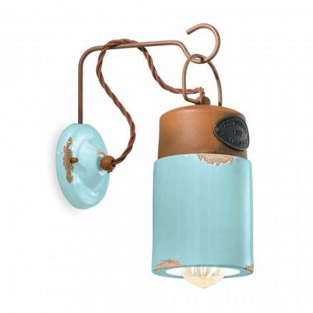 Nástěnné svítidlo vyrobené z keramiky a železa rez Desiree Ferroluce