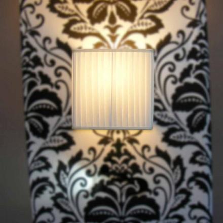 Moderní žárovka v bambusovém hedvábí, barva slonoviny