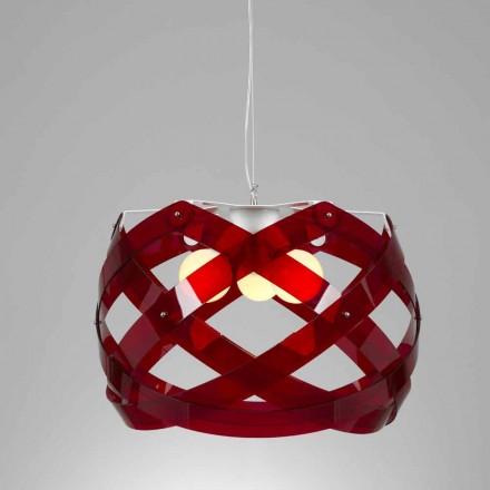 Závěsná lampa 3 světla 67 cm v průměru methakrylátu Vanna