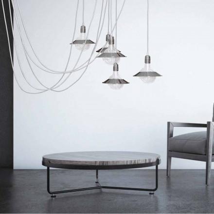 Chromová závěsná svítilna s 5 světly, moderní design