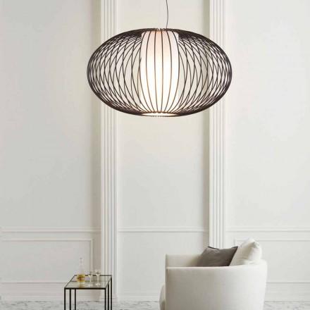Závěsná lampa lakované oceli, 90xh.53x L.cavo 100 cm Joy