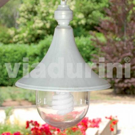 Venkovní závěsná lampa z bílého hliníku, vyrobeno z Itálie, Anusca