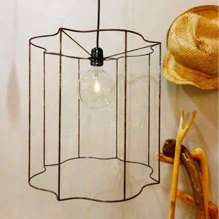 Designová závěsná / stojací lampa s klecí Cigno
