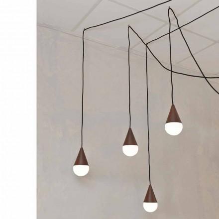 Designová závěsná svítilna se 4 osvětleními Drop, barva koruny