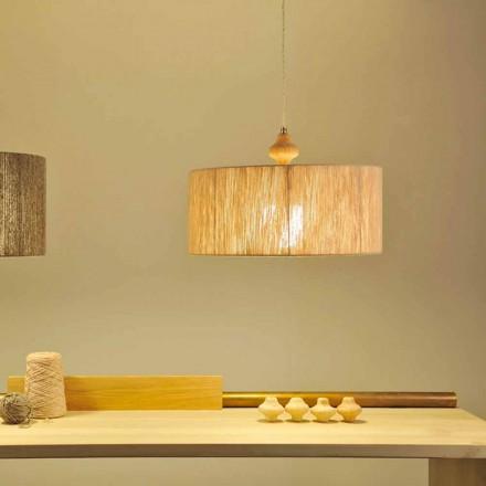 Moderní designová závěsná lampa Bois, kabel 400 cm