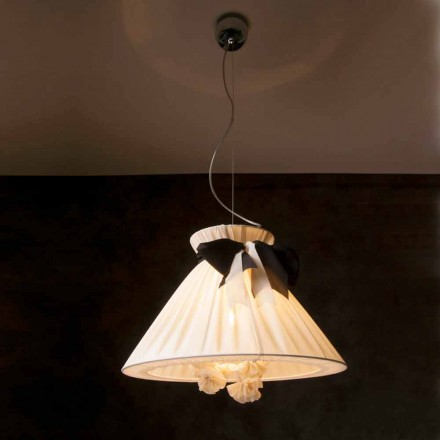 Ročníková lampa s pozlacenými vzorky v hedvábí Chanel