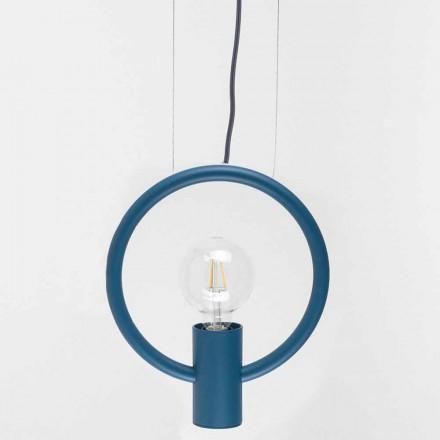 Designová závěsná lampa z oceli vyrobená v Itálii - Delizia