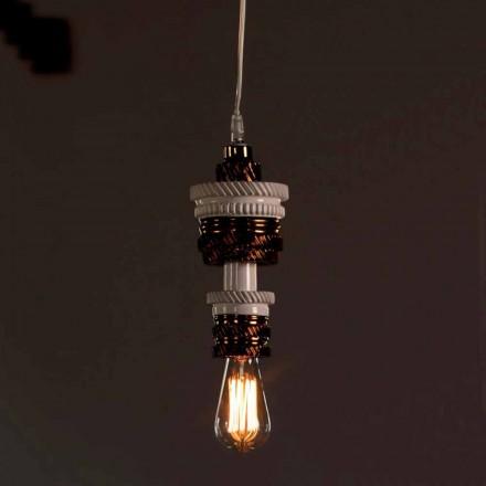 Designová závěsná lampa v keramickém provedení 3 vyrobeném v Itálii - futurismus