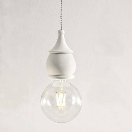 Shabby Chic Keramická závěsná lampa - osud Alda Bernardiho