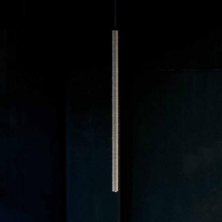 Závěsná lampa z hliníku pokrytá lanem vyrobená v Itálii - Ginia