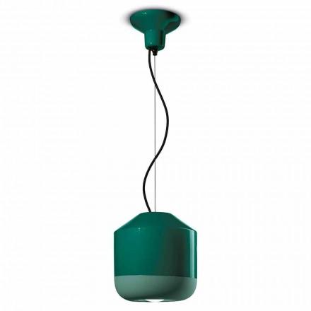 Závěsná lampa v barevné keramice vyrobené v Itálii - Ferroluce Bellota