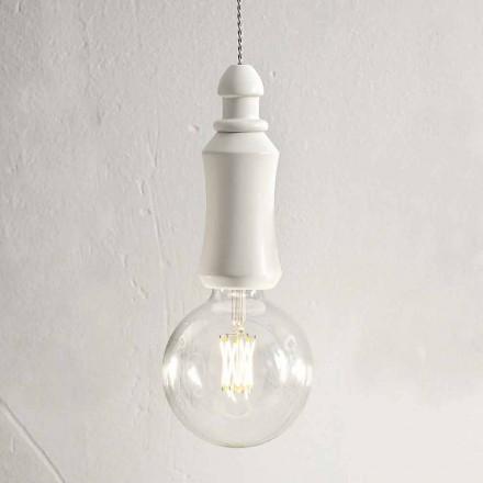 Keramická ošuntělá závěsná lampa vyrobená v Itálii - osud Aldo Bernardi