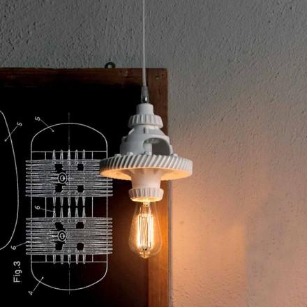 Závěsná lampa z keramiky ve 3 provedeních moderního designu - futurismus
