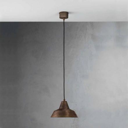 Lampa starožitné železný zvon zavěšení Virginia Il Fanale