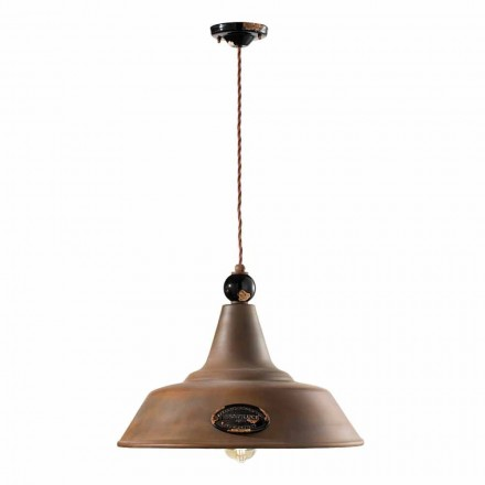 Lampa suspenze Corten železo a keramiky Lois Ferroluce