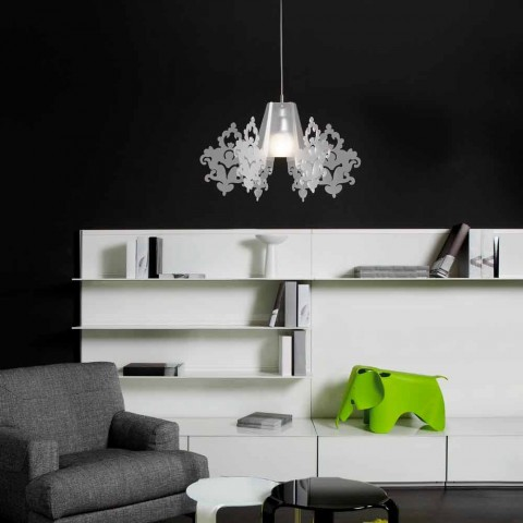 Lampa z barevného methakrylát závěsných alessia, průměr 70 cm