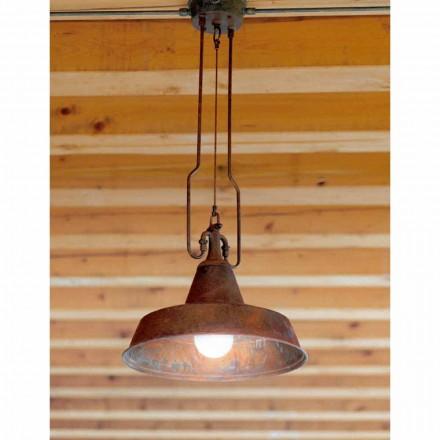 Lampa z mědi a mosazi suspenze anticati Foundry
