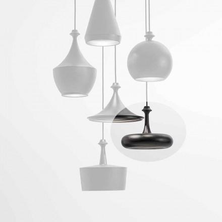 LED závěsná lampa vyrobená v Itálii v keramice - L4 flitry Aldo Bernardi