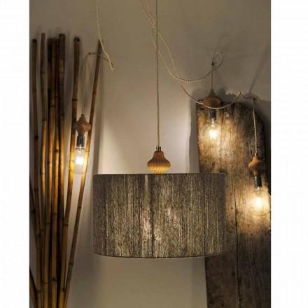 Moderní 4 svítidla s dřevěnou částí Bois