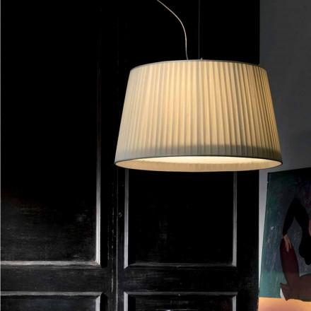 Moderní závěsná lampa ve slonovině Bambusové hedvábí