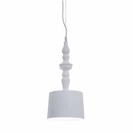 Stínidlo závěsné lampy v bílém lesklém keramickém designu - Cadabra