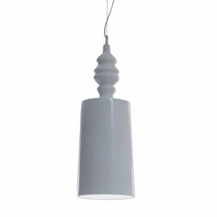 Stínidlo závěsné lampy v lesklém bílém keramickém designu - Cadabra