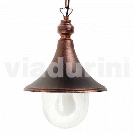 Venkovní závěsná lampa vyrobená z hliníku, vyrobená v Itálii, Anusca