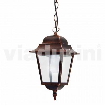 Venkovní závěsná lampa vyrobená z hliníku, vyrobená v Itálii, Aquilina