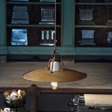 Závěsné svítidlo řemeslně průmyslové styl Ferroluce