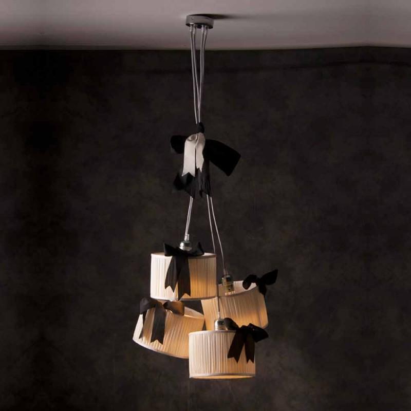 Chanel 4-lehká vintage závěsná lampa
