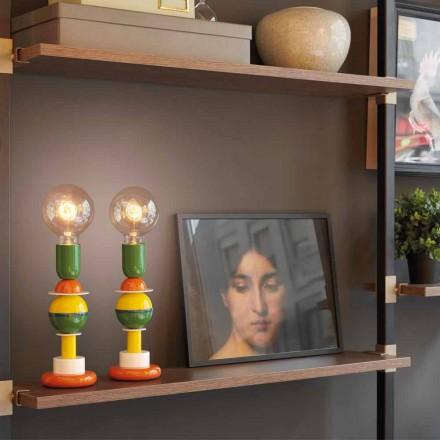 Designová stolní lampa v barevném hliníku Slide Otello Mini