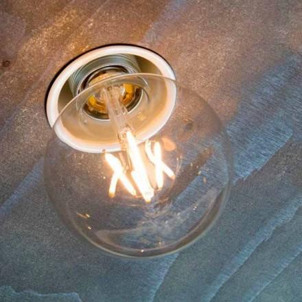 Ručně zapuštěná lampa z bílého hliníku vyrobená v Itálii - Frana